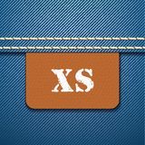 XS size clothing label -  Stock Photography
