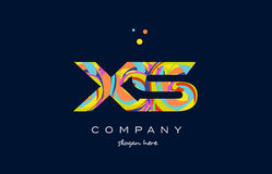 xs x s colorful alphabet letter logo icon template vector Obrazy Royalty Free