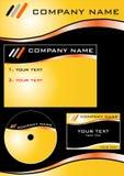 Xtemplate 2.cdr de compagnie Photo stock