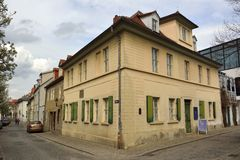 Xterior widok Nietzsche Haus w Naumburg Zdjęcie Stock