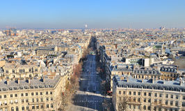 Xternal daylight general view of Paris Royalty Free Stock Image