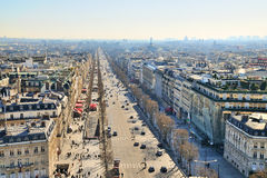 Xternal daylight general view of Paris Stock Image