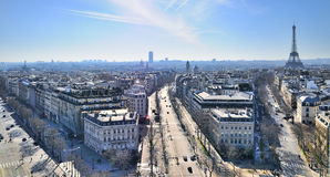 Xternal daylight general view of Paris Stock Photo