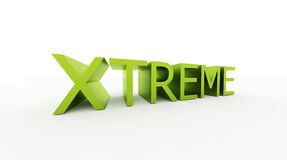 Xtrem word rendered isolated Royalty Free Stock Images