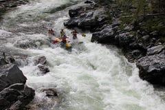Xtreme flisactwo na Bashkaus rzece, krańcowy sport obraz stock