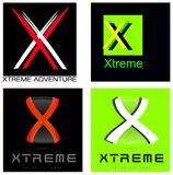 Xtreme or Letter X Company Logo Set Stock Images