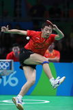 Xu Xin playing table tennis at the Olympic Games in Rio 2016. Xu Xin from China playing table tennis at the Olympic Games in Rio 2016 Stock Photo