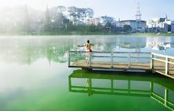 Xuan Huong lake Stock Image