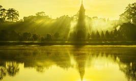 Xuan Huong lake in the morning Royalty Free Stock Photo