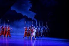 Xuan Zang ` s uitgang-vier handeling ` belemmerde inklaring ` - Epische de Zijdeprinses ` van het dansdrama ` royalty-vrije stock fotografie