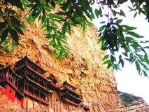 Xuankong tempel Kina arkivbild