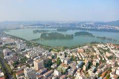 Xuanwu湖在南京,中国 库存照片