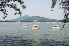 Xuanwu jezioro i Purpurowa góra Obraz Royalty Free