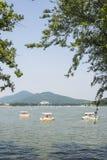 Xuanwu jezioro i Purpurowa góra Obrazy Stock