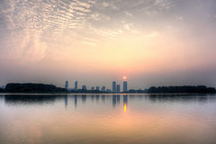 Xuanwu jezioro w świcie Obraz Stock