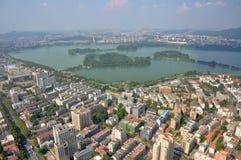 Xuanwu Lake i Nanjing, Kina Arkivfoton
