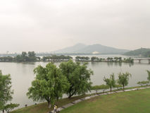 Xuanwu Lake. In Nanjing city, is a purple mountain national scenic area at the foot of, China's largest Imperial garden Lakes, contemporary only South garden Stock Photo