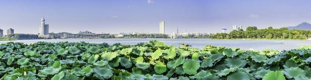 Xuanwu Lake and Nanjing railway station stock photos