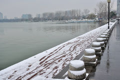 Xuanwu Lake Park Snow scene Stock Photography