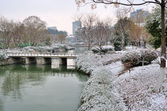 Xuanwu Lake Park Snow scene Stock Images