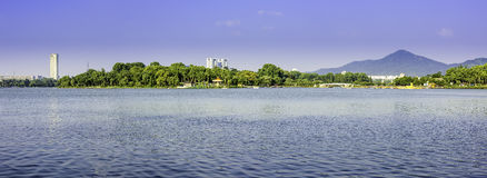 Xuanwu Lake and Purple mountain royalty free stock photography