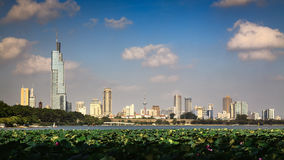 Xuanwu Lake scenery in the city. Eastphoto, tukuchina,  Xuanwu Lake scenery in the city Royalty Free Stock Photography