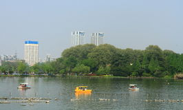 Xuanwu Lake in spring, Nanjing, China Stock Photo