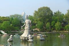 Xuanwu Lake in spring, Nanjing, China Stock Image