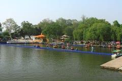 Xuanwu Lake in spring, Nanjing, China Royalty Free Stock Photos
