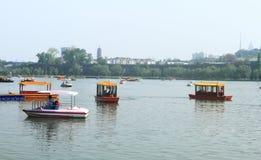 Xuanwu Lake in spring, Nanjing, China Stock Images