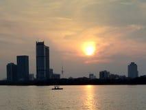Xuanwu Lake Sunset Stock Photography
