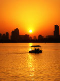 Xuanwu lake sunset view Stock Image