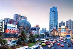 Xujiahui da central de China, Shanghai Fotografia de Stock