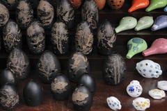 Xun, oude aarden blaasinstrumenten royalty-vrije stock afbeeldingen
