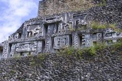 Xunantunich废墟在伯利兹 免版税库存照片