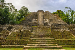 Xunantunich. An Ancient Mayan archaeological site in western Belize. Maya temple El Castillo Stock Photo