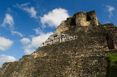 Xunantunich Belize Mayan Temple Stock Images