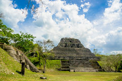 Xunantunich maya site ruins in belize Royalty Free Stock Image