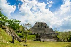 Xunantunich maya site ruins in belize royalty free stock image