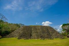 Xunantunich maya site ruins in belize stock image