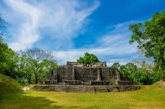 Xunantunich maya site ruins in belize Stock Photos
