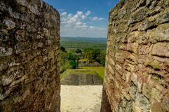 Xunantunich maya site ruins in belize Stock Photo