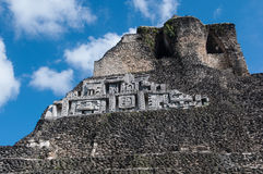 Xunantunich Mayan Temple Royalty Free Stock Photography