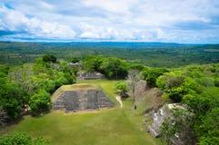 Xunantunichruïnes in Belize Stock Afbeeldingen