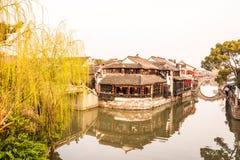 Xutang port in the morning stock photos