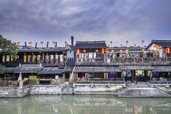 Xutang port at night royalty free stock photography