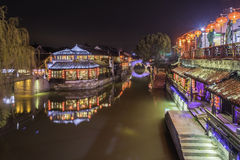 Xutang port at night stock photography