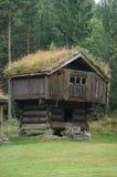 XV vieux bâtiment traditionnel en bois, Norvège Photo stock