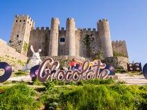 XV zawody międzynarodowi Czekoladowy festiwal w Obidos, Portugalia Zdjęcia Stock