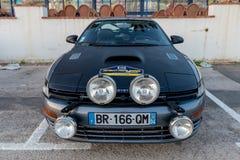 XV Zlotnego Costa Brava Historyczna samochodowa rasa w miasteczku Palamos w Catalonia 04 19 2018 Hiszpania, grodzki Palamos Zdjęcie Royalty Free